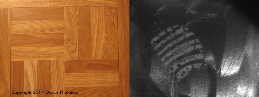 Watermark Footmarks in Floor Wax Vis-UV