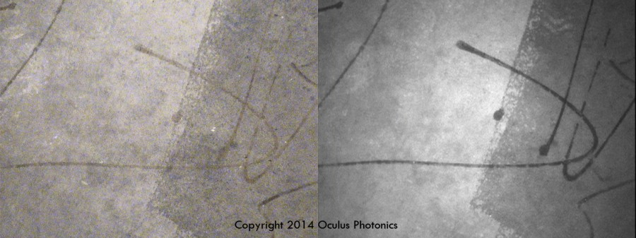 Watermark Glue on Concrete Vis-UV